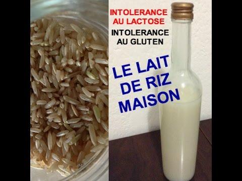 intol rance au lactose lait de riz maison youtube. Black Bedroom Furniture Sets. Home Design Ideas