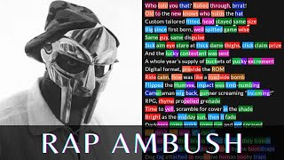 MF DOOM - Rap Ambush   Lyrics, Rhymes Highlighted