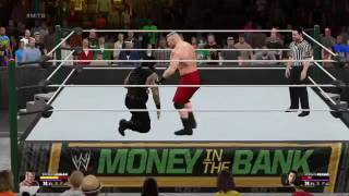 WWE 2K15 Brock Lesnar vs Roman Reigns Gameplay pc