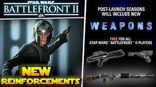 NEW BLASTERS, NEW Reinforcements, HERO Changes ALL Coming To Star Wars Battlefront 2!