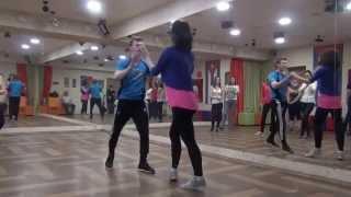 Презентация сальса на Открытых уроках в школе танцев КубА. Владимир Лизунов и Мария La Cubana