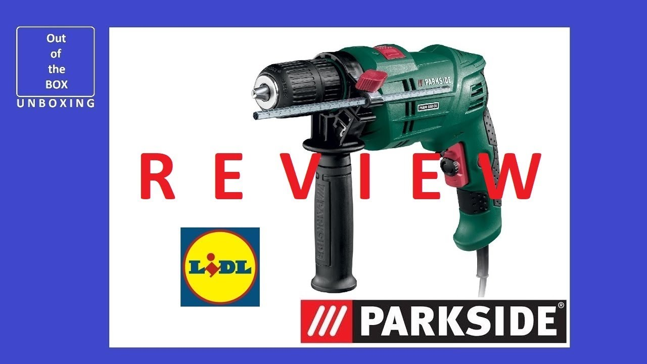 Review Parkside Hammer Drill Psbm 500 C4 Unboxing Lidl