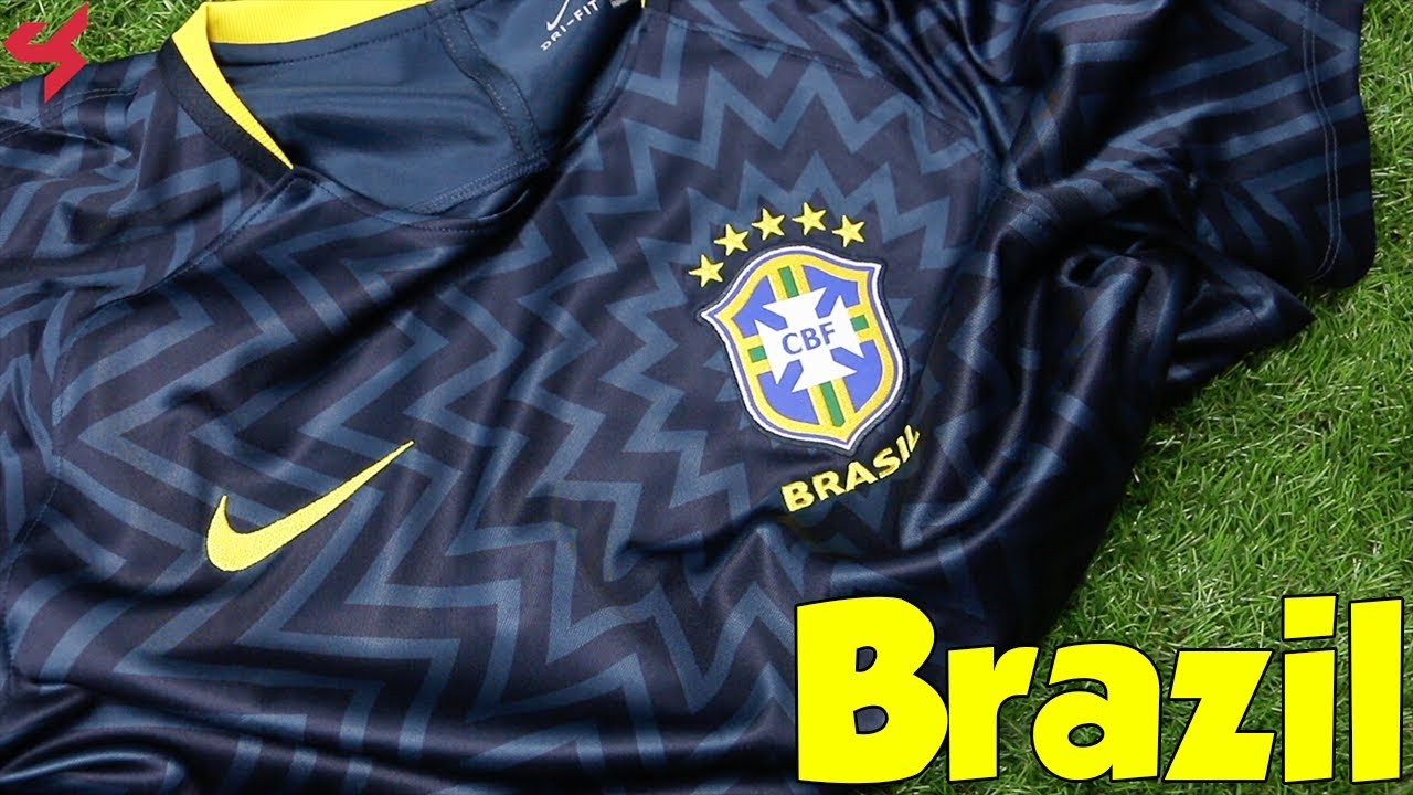 dd079fbdbfa World Cup 2018 Nike Brazil Pre-Match Jersey Unboxing + Review - YouTube