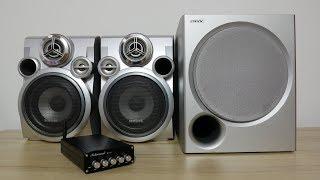 Reutilizar parlantes pasivos de tu casa usando un amplificador estéreo