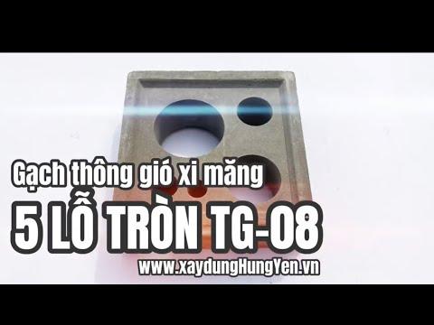 Gạch Thông Gió 5 Lỗ Tròn TG-08 | Gạch Bông Gió Tại Hưng Yên | Gạch Thông Gió Tại Hưng Yên