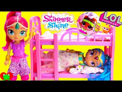 Shimmer and Shine Bunk Bed Sleepover Surprises