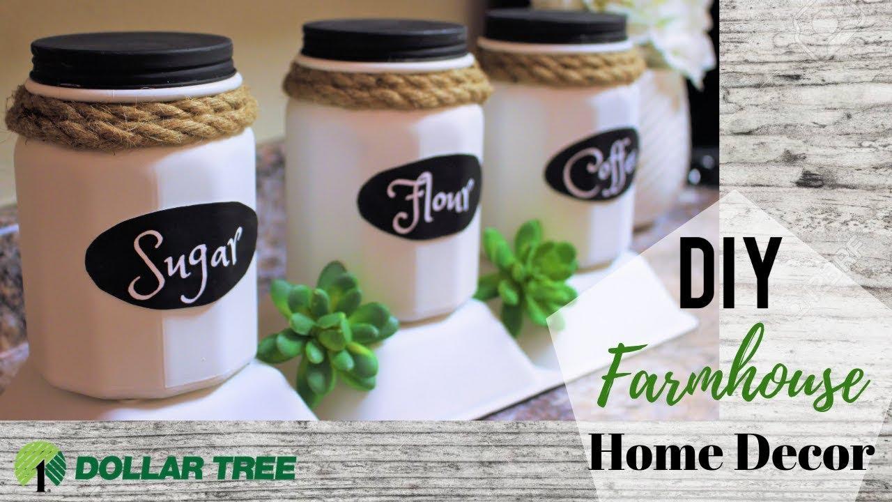 Diy Dollar Tree Farmhouse Decor Kitchen Containers Organization Ideas Youtube