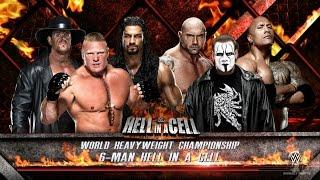 vuclip WWE 2K16 - Sting vs Brock Lesnar vs Roman Reigns vs Rock vs Undertaker vs Batista (HELL IN A CELL)