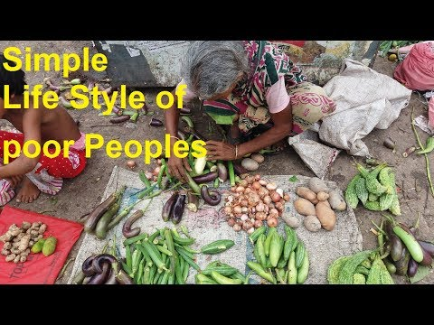 Very Simple Vegetables Market Of Simple Life Style Rustic Peoples ll Incredible Vegetables Market
