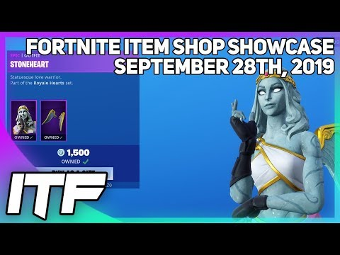 Fortnite Item Shop *NEW* STONEHEART SET! [September 28th, 2019] (Fortnite Battle Royale)