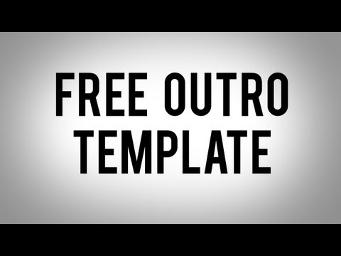 Free outro template download link in description editable photoshop cs6 for Outro template download