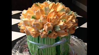 Tulip Bouquet- Butterccream- Cake Decorating