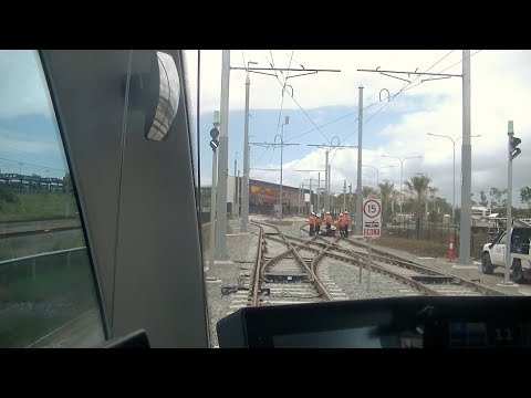 Driver's View Gold Coast Light Rail 2. Hospital  to Helensvale