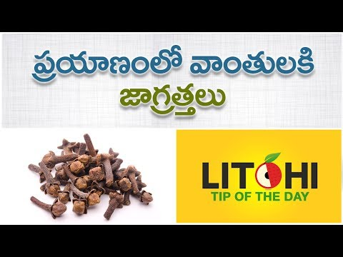 Tips to control the vomiting during journey | avoid vomiting in travelling| Litchi Tip of the day