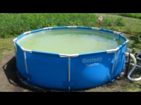 Каркасный бассейн BESTWAY, песочный фильтр и очистка воды