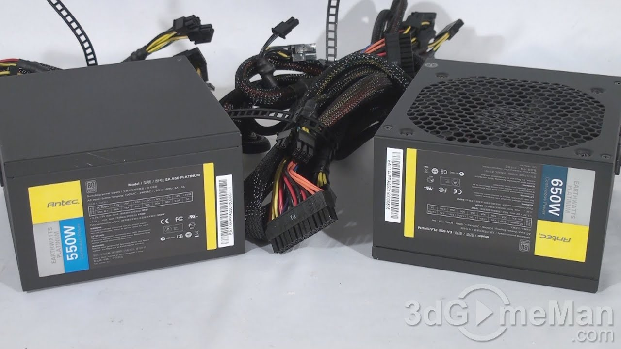 #1317 - Antec 550W & 650W EarthWatts Platinum Power Supplies Video Review
