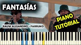 Rauw Alejandro, Farruko - Fantasías (Unplugged) PIANO TUTORIAL | ACORDES |.mp3