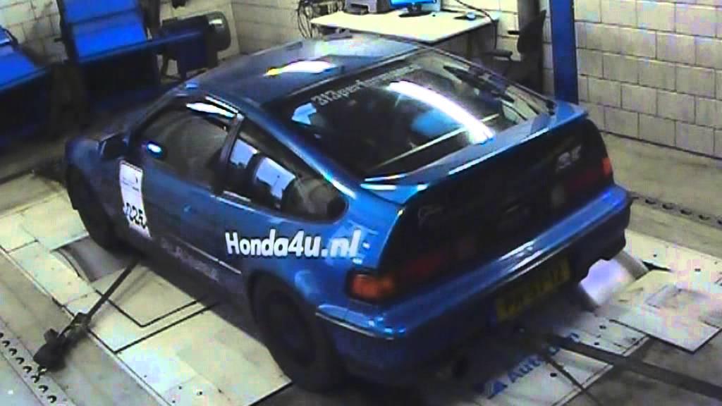 Honda CRX Vtec dyno run @ Verhoeven Tuning November 2012.mpg - YouTube