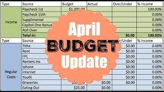 APRIL  2018 ZERO BASED BUDGET | Dumping Debt Fridays | Dave Ramsey Inspired