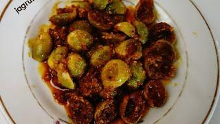 Traditional Gujarati recipe Gunda  sambharo/ लहसोडा का संभारो बनाने की विधि/ ગુંદાનોસંભારો બનાવા ની