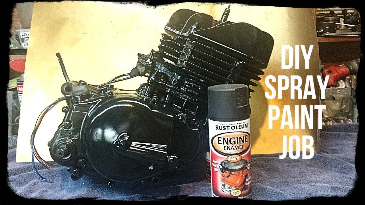 Painting An Assembled Motorcycle Engine