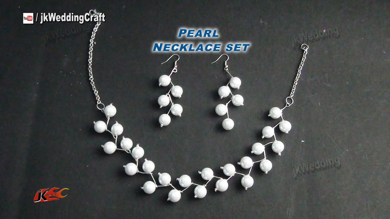 inexpensive watch wedding youtube earring set necklace idea jk making gift jewelry craft pearl easy diy