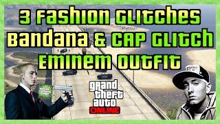 GTA 5 Online 3 FASHION GLITCHES | EMINEM OUTFIT | BANDANA ohne Cap | Cap ohne Brille HD