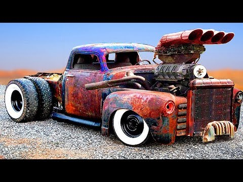 CRAZIEST and POWERFUL CARS & TRUCKS (Detroit Diesel) | CUSTOM HOT RODS and RAT RODS