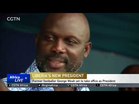 Former footballer George Weah takes office as Liberia's President