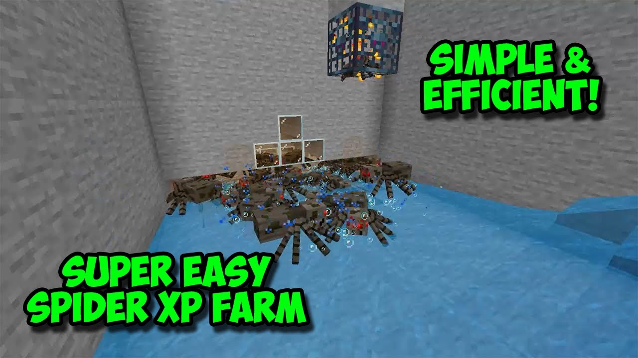 Minecraft Spider Xp Farm Minecraft Ps4 Xbox Simply Efficient Youtube
