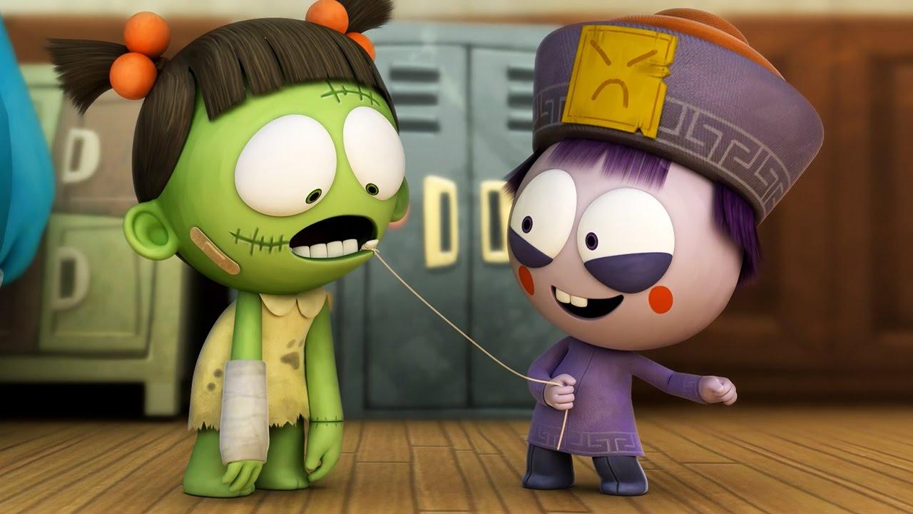 Humorous Animated Cartoon | Spookiz Season 1   Wiggle Wiggle | 스푸키즈 | Cartoon for Youngsters