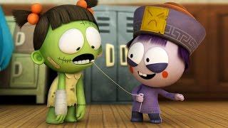 Divertidos dibujos Animados   Spookiz Temporada 1 - Wiggle Wiggle   스푸키즈   dibujos animados para los Niños