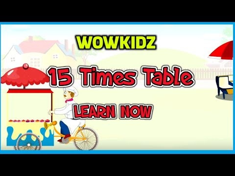 Musical tables - 15 Times Table - HD