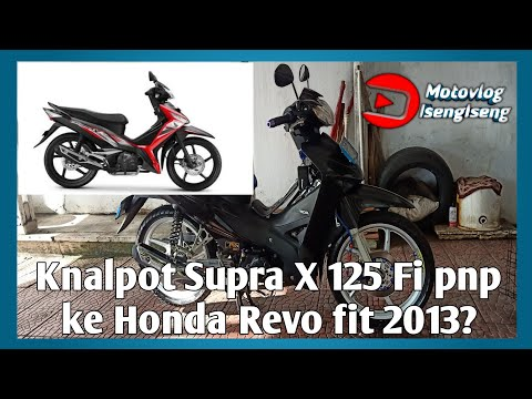 Review Knalpot Honda Supra X 125 Fi Standar Pabrik di pasang ke Honda Revo Fit | Motovlog IsengIseng