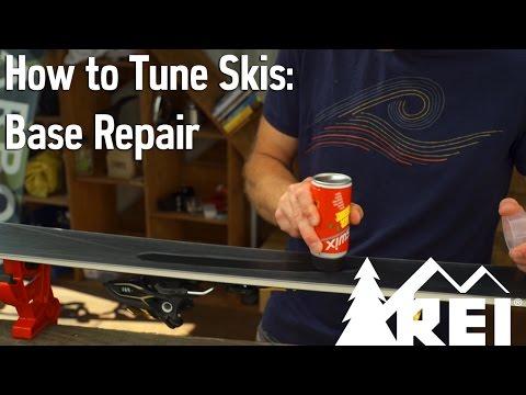 How to Tune Skis #2: Base Repair || REI