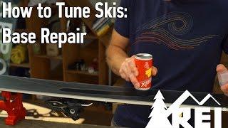 How to Tune Skis #2: Base Repair    REI