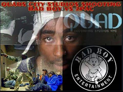 2PAC'S WORD VS BAD BOY'S WORD QUAD CITY STUDIOS SHOOTING