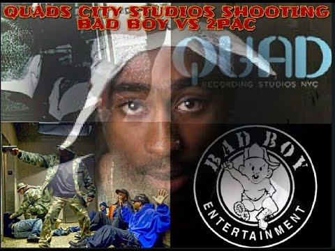 2PAC'S WORD VS BAD BOY'S WORD QUAD CITY STUDIOS SHOOTING
