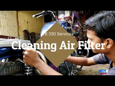 Air Filter cleaning of  Royal enfield TB 350 Service