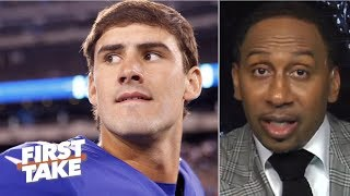 Daniel Jones is in for a tough outing against the Buccaneers - Stephen A. | First Take
