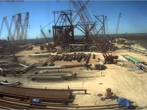 Kiewit Offshore- Tamar Jacket Time Lapse.wmv