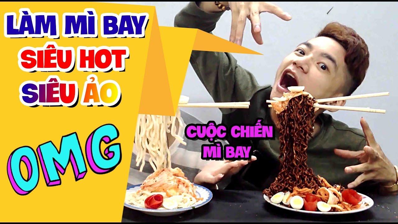 CUỘC CHIẾN MÌ BAY – CÁCH LÀM MÌ BAY SIÊU HOT – Flying Noodles