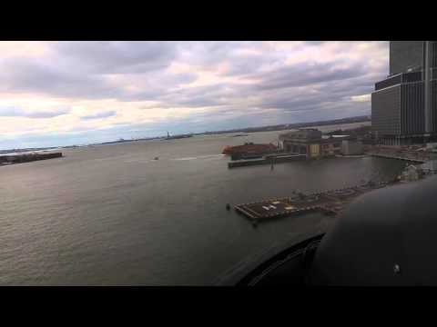 NYC landing at the heliport near wall street.