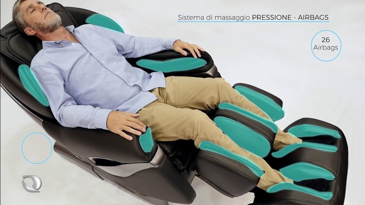 Poltrona di massaggio samsara italiano global relax youtube