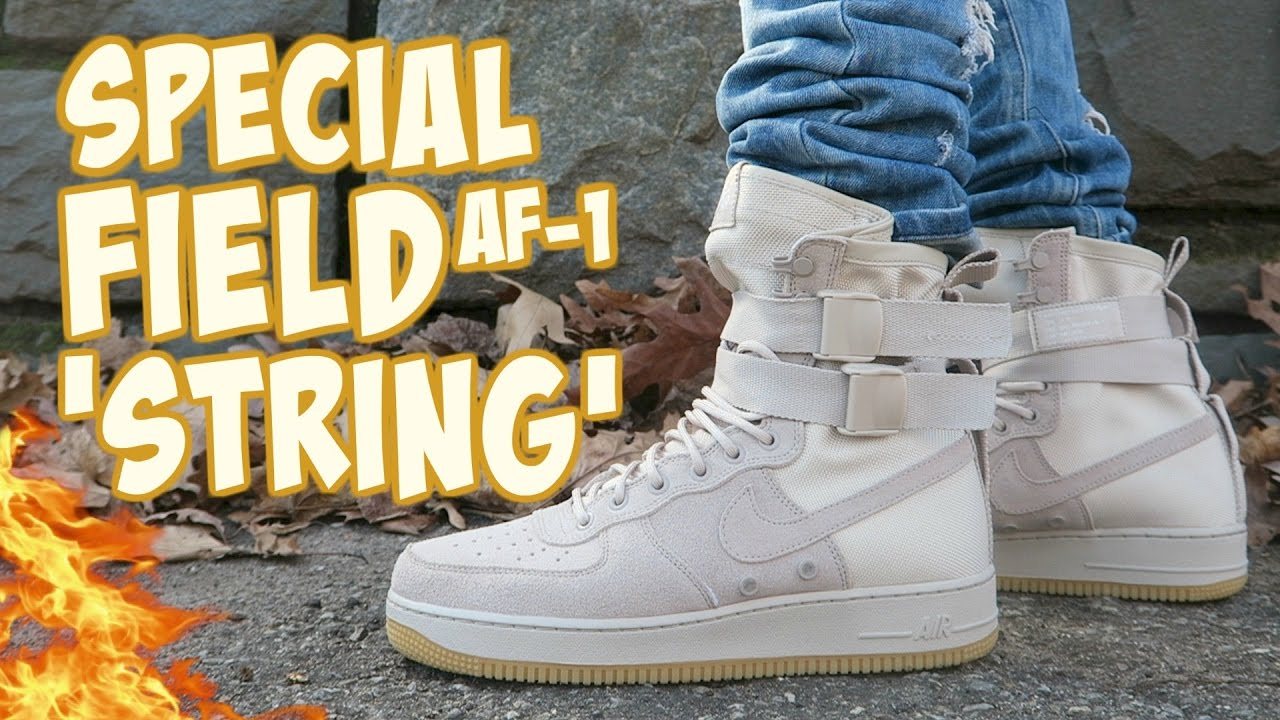 6d5714e7feb8 NIKE SPECIAL FIELD AIR FORCE 1  STRING  ON-FOOT REVIEW - YouTube