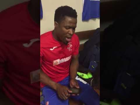 Mbombela United singing 'Jikeleza my love '..