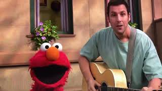 "Sesame Street Adam Sandler sings ""This is the song about Elmo."""