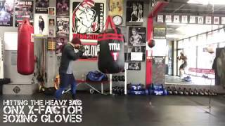 Hitting the Heavy Bag With ONX X-Factor Boxing Gloves
