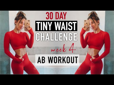 LETS DO THIS!!! 30 day TINY WAIST workout challenge WEEK 4!