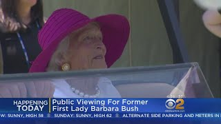 Public Viewing Of Former First Lady Barbara Bush